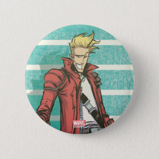 Guardians of the Galaxy   Star-Lord Mugshot 2 Inch Round Button