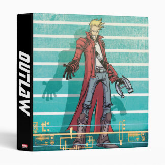 Guardians of the Galaxy | Star-Lord Mugshot 3 Ring Binder