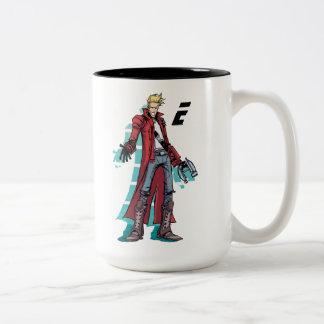 Guardians of the Galaxy | Star-Lord Mugshot Two-Tone Coffee Mug