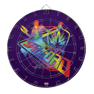 Guardians of the Galaxy | Star-Lord Neon Graphic Dartboard