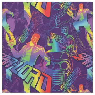 Guardians of the Galaxy | Star-Lord Neon Graphic Fabric