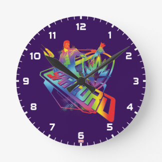 Guardians of the Galaxy | Star-Lord Neon Graphic Round Clock
