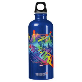 Guardians of the Galaxy | Star-Lord Neon Graphic Water Bottle