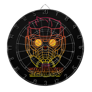 Guardians of the Galaxy | Star-Lord Neon Outline Dartboard