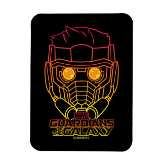 Guardians of the Galaxy | Star-Lord Neon Outline Magnet