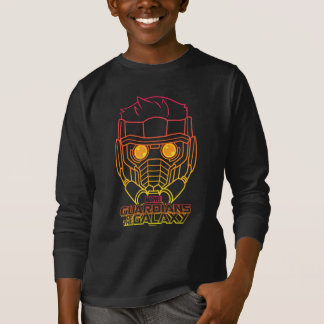 Guardians of the Galaxy   Star-Lord Neon Outline T-Shirt