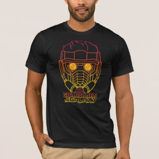 Guardians of the Galaxy | Star-Lord Neon Outline T-Shirt