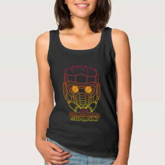 Guardians of the Galaxy   Star-Lord Neon Outline Tank Top