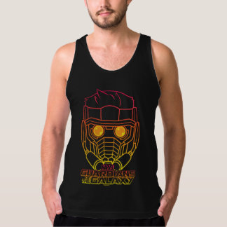 Guardians of the Galaxy | Star-Lord Neon Outline Tank Top