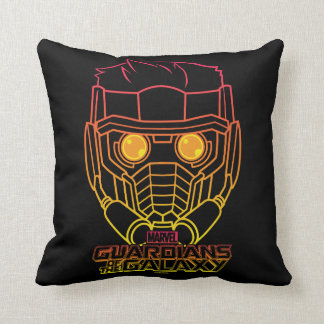Guardians of the Galaxy | Star-Lord Neon Outline Throw Pillow