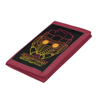 Guardians of the Galaxy | Star-Lord Neon Outline Trifold Wallet