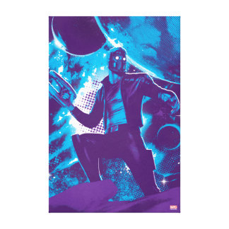 Guardians of the Galaxy | Star-Lord On Planet Canvas Print