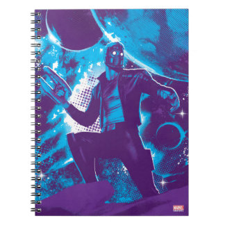 Guardians of the Galaxy | Star-Lord On Planet Notebook