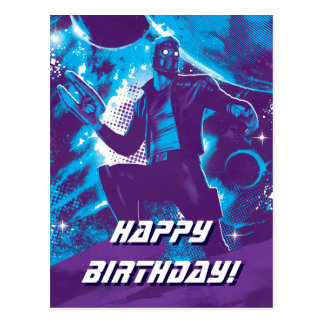 Guardians of the Galaxy | Star-Lord On Planet Postcard