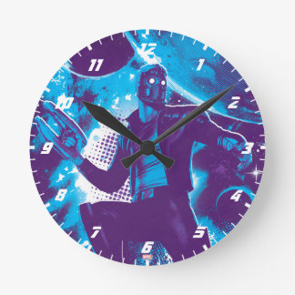 Guardians of the Galaxy | Star-Lord On Planet Round Clock
