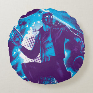 Guardians of the Galaxy | Star-Lord On Planet Round Pillow