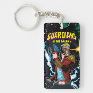 Guardians of the Galaxy | Star-Lord Retro Comic Double-Sided Rectangular Acrylic Keychain