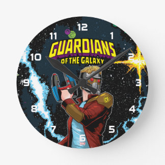 Guardians of the Galaxy | Star-Lord Retro Comic Round Clock