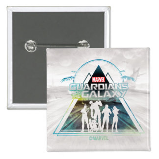 Guardians of the Galaxy | Triangle Outline Crew 2 Inch Square Button