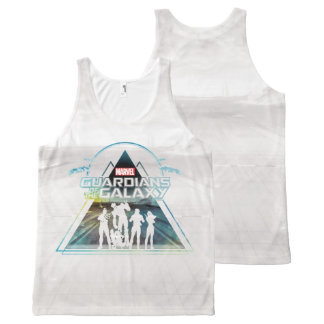 Guardians of the Galaxy | Triangle Outline Crew All-Over-Print Tank Top