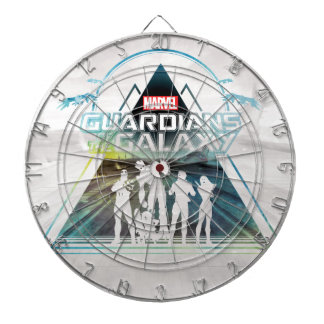 Guardians of the Galaxy | Triangle Outline Crew Dartboard
