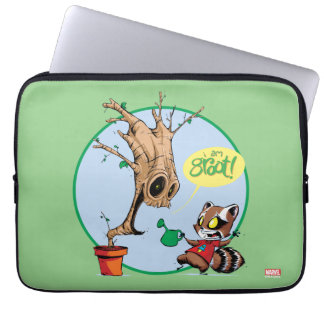Guardians of the Galaxy | Watering Groot Laptop Computer Sleeves