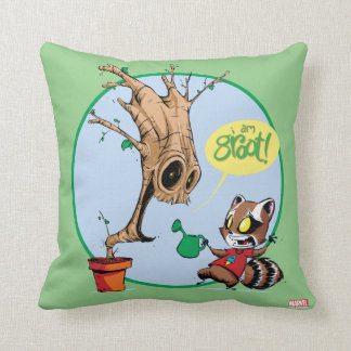 Guardians of the Galaxy | Watering Groot Throw Pillow