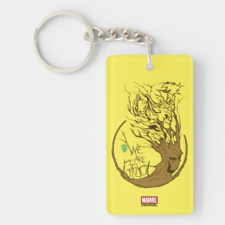 Guardians of the Galaxy | We Are Groot Branches Double-Sided Rectangular Acrylic Keychain