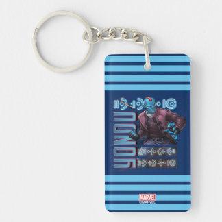 Guardians of the Galaxy | Yondu Character Badge Double-Sided Rectangular Acrylic Keychain