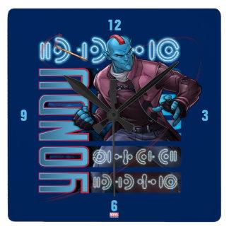 Guardians of the Galaxy | Yondu Character Badge Square Wall Clock