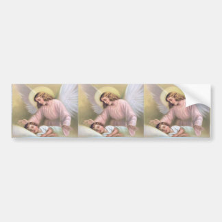 Guarding angel of children,vintage,reproduction, car bumper sticker