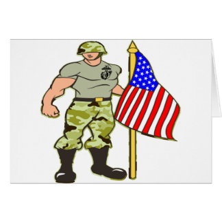 Guarding the American Flag Greeting Card