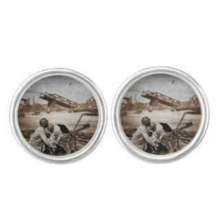 Guarding the Bridge Europe WWII Cufflinks