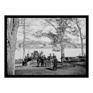 Guards at the Ferry near Georgetown, DC 1864 Poster