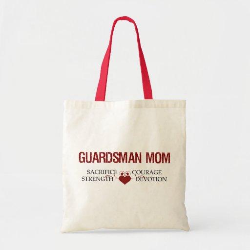 Guardsman Mom Sacrifice, Strength, Courage Tote Bags