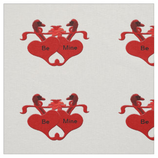 Guardsman Red Hearts Swans Fabric