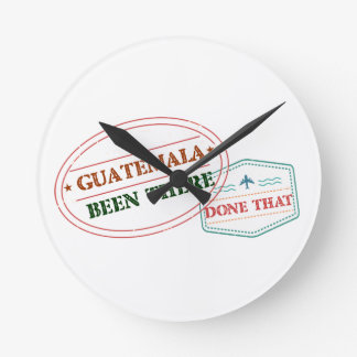 Guatemala Been There Done That Clock