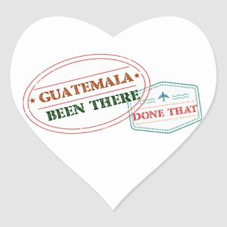 Guatemala Been There Done That Heart Sticker