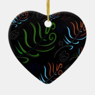 Guatemala black amazing Folk design Ceramic Ornament