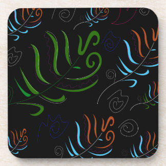 Guatemala black amazing Folk design Coaster
