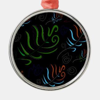 Guatemala black amazing Folk design Metal Ornament