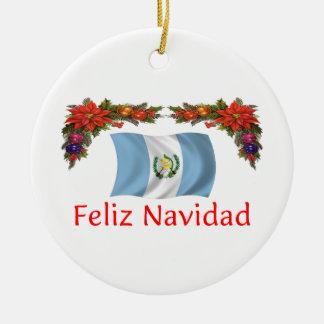 Guatemala Christmas Ceramic Ornament
