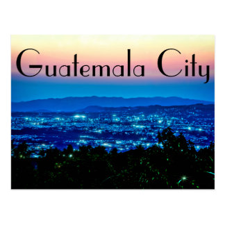 Guatemala City, Guatemala, Central America at dusk Postcard