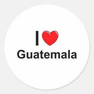 Guatemala Classic Round Sticker