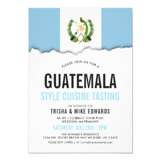 Guatemala Cuisine | Party Flag White Invite