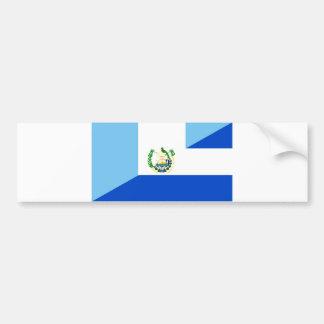 guatemala el salvador half flag country symbol bumper sticker