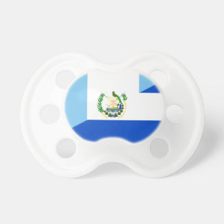 guatemala el salvador half flag country symbol pacifier