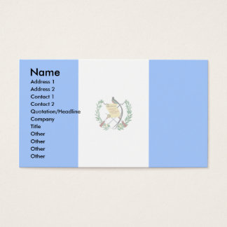 Guatemala Flag Business Card