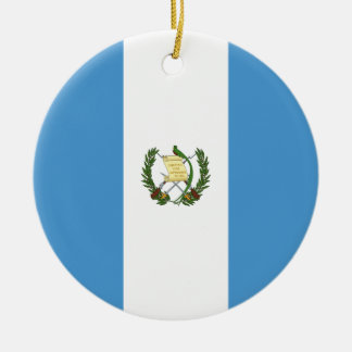 Guatemala Flag Ceramic Ornament