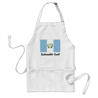 Guatemala flag chef apron
